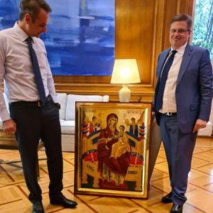 Българска икона ще пази гръцкия премиер