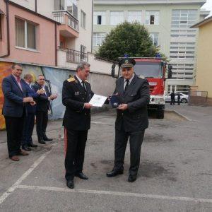 Отличиха пожарникари от Сливен за висок професионализъм