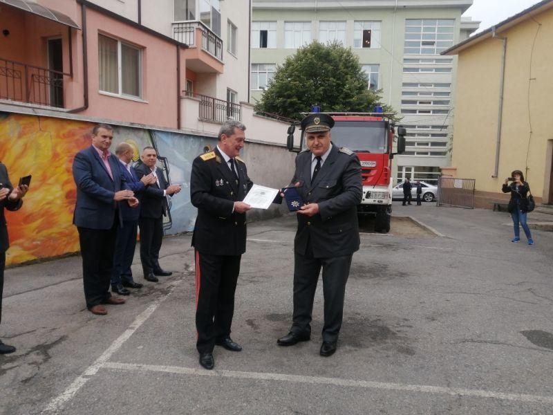 гл.инспектор Иван Русев бе награден с почетен медал
